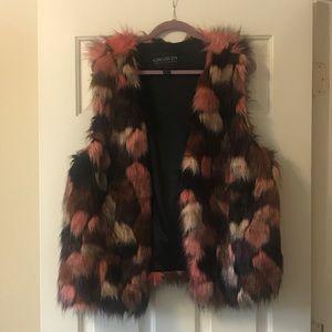 ❤️Plus Size Colorful Faux Fur Vest❤️